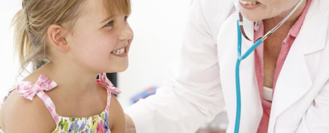 Doctor investigate health of child
