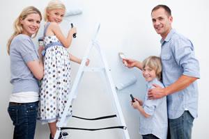 Happy family painting