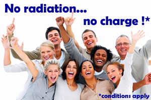 No radiation in your house, no charge!*