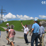International participants on field trip during Geovital radiation protection training course.