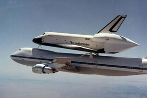 Space Shuttle test flight