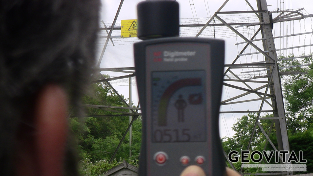 Electromagnetic field measurement with the Geovital EM field probe