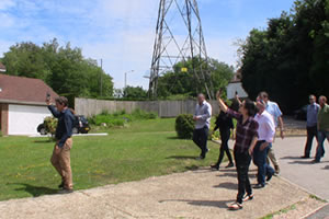 UK Geobioogy students assess power line radiation affecting nearby exposed residents