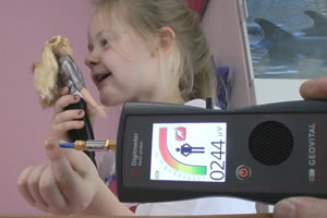 Instructing a child to hold Hello Barbie at arms length to reduce EMF radiation exposure seems futile as the child wants Barbie to hear her clearly.