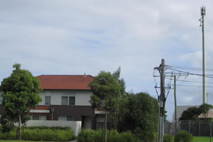 EMF radiation from phone towers, but even more importantly power lines, should be measured before buying any home.