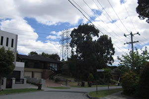 Normal street power lines are much closer to homes and can cause the same problems are high voltage power lines.