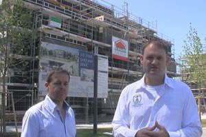 Patrick van der Burght and Sascha Hahnen at the 9-apartment-building project in Germany