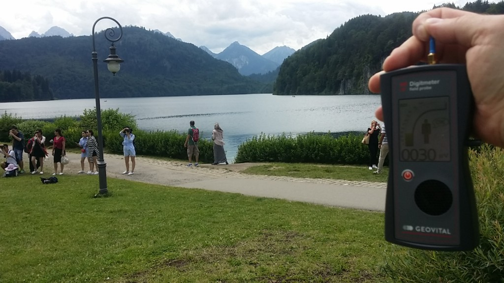 RF EMF radiation levels, Germany, Schwangau, Alpsee - Photo by Patrick van der Burght