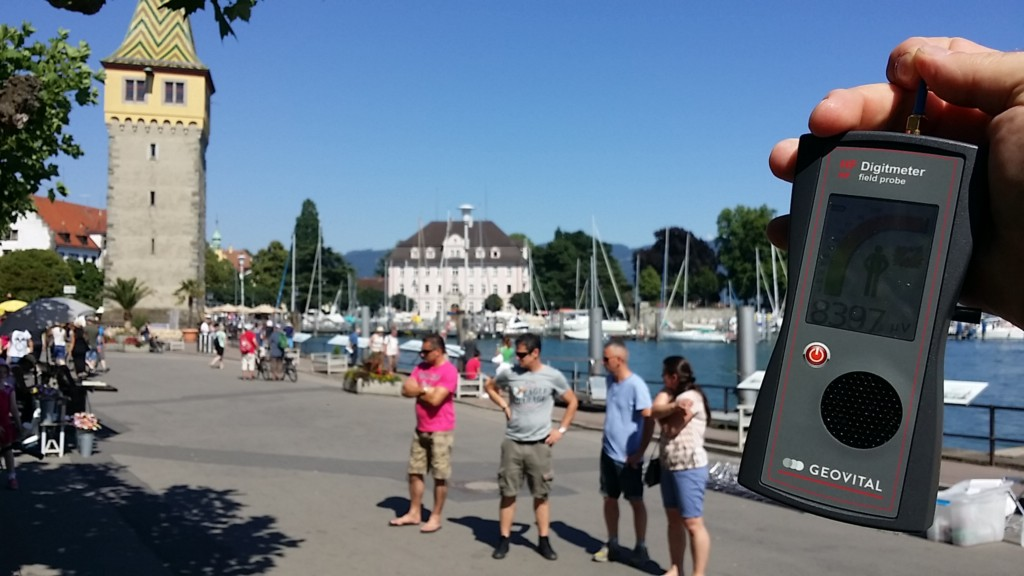 RF EMF radiation levels, Germany, Lindau on lake Constance, Mangturm - Photo by Patrick van der Burght