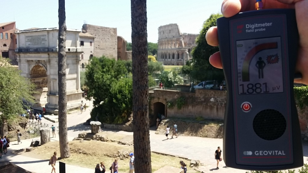 RF EMR radiation at the Arch of Titus, Rome, Italy - by Patrick van der Burght