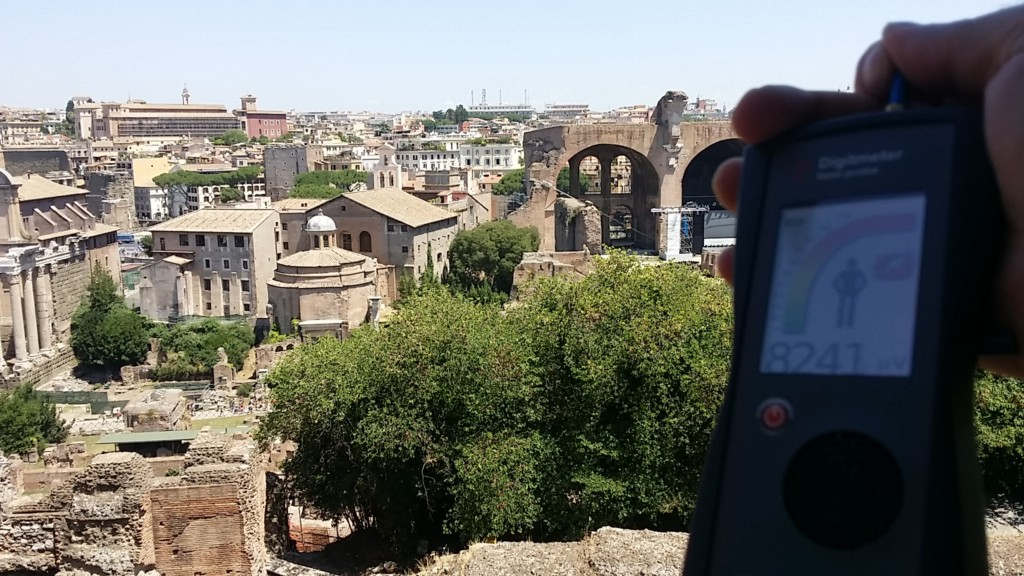 RF EMR radiation at the Basilica of Maxentius, Rome, Italy - by Patrick van der Burght