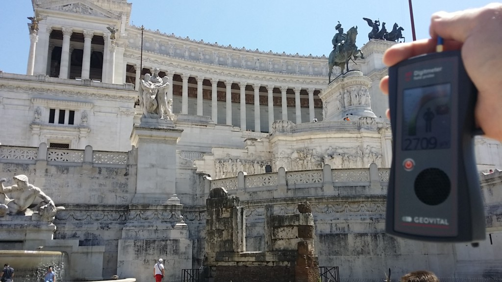 RF EMR radiation at the Altar of the Fatherland, Rome, Italy - by Patrick van der Burght