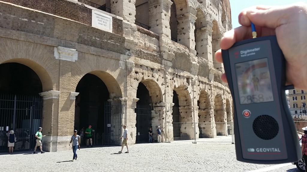 RF EMR outside Colosseum, Rome, Italy - by Patrick van der Burght