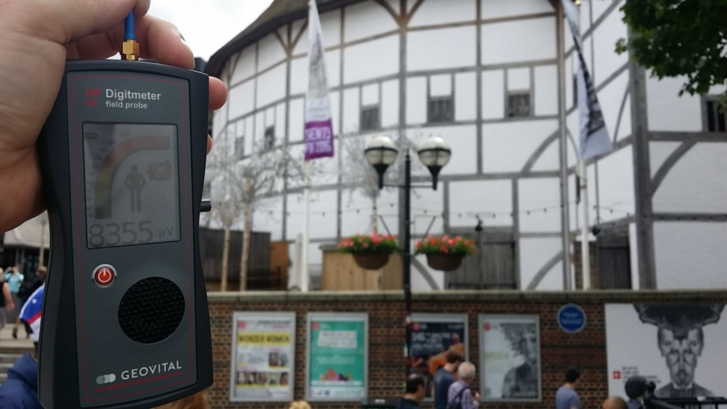 RF EMR radiation at the Shakespeare's Globe, London, UK - by Patrick van der Burght