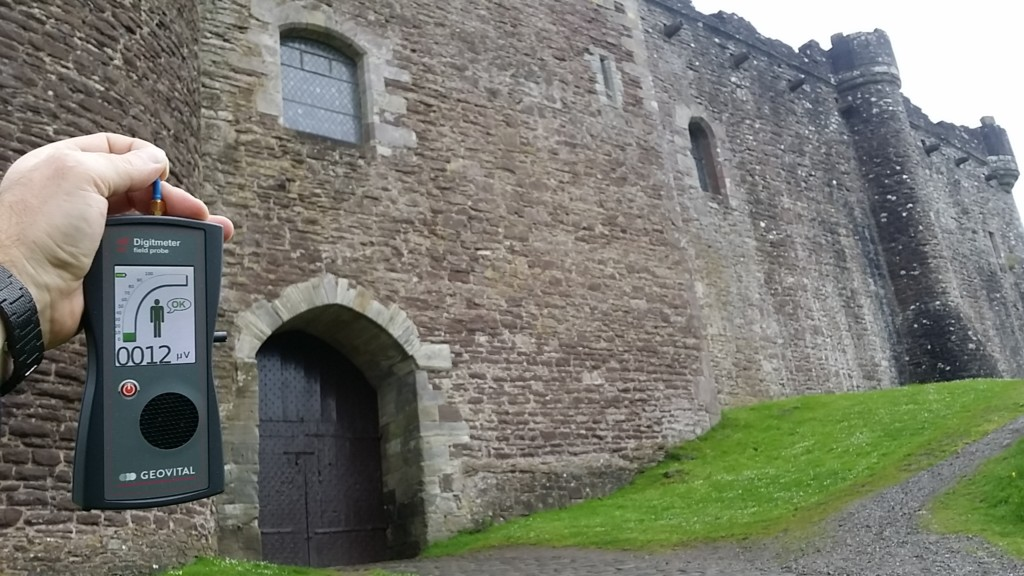 RF EMR radiation at the Doune Castle (Monty Python location) Perthshire, UK - by Patrick van der Burght