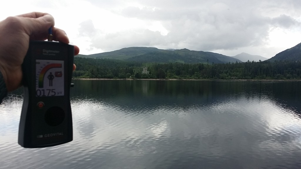 RF EMF radiation levels Loch Laggan, Ardverikie House, Newtonmore, Highland (Monarch of the Glen castle), Scotland, UK - Photo by Patrick van der Burght