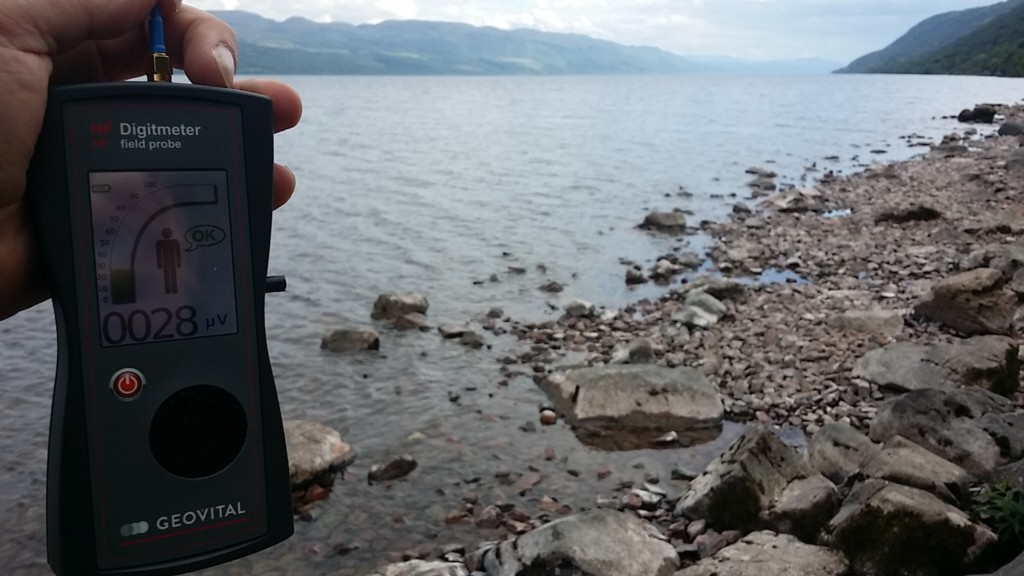RF EMF radiation levels Loch Ness, Lochend, Inverness, Highland, Scotland, UK - Photo by Patrick van der Burght