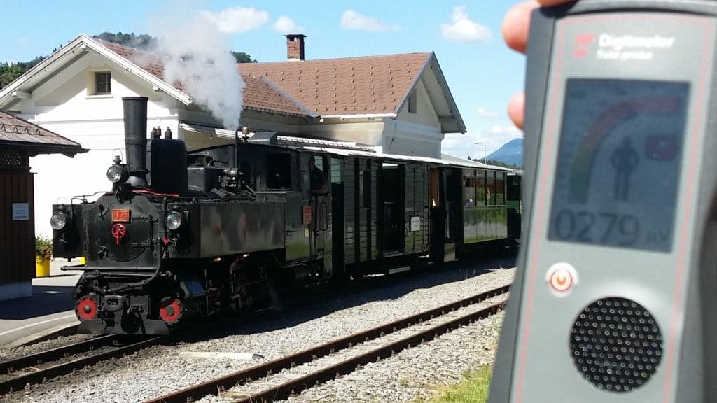 RF EMF radiation level on Schwarzenberg station Andelsbuch