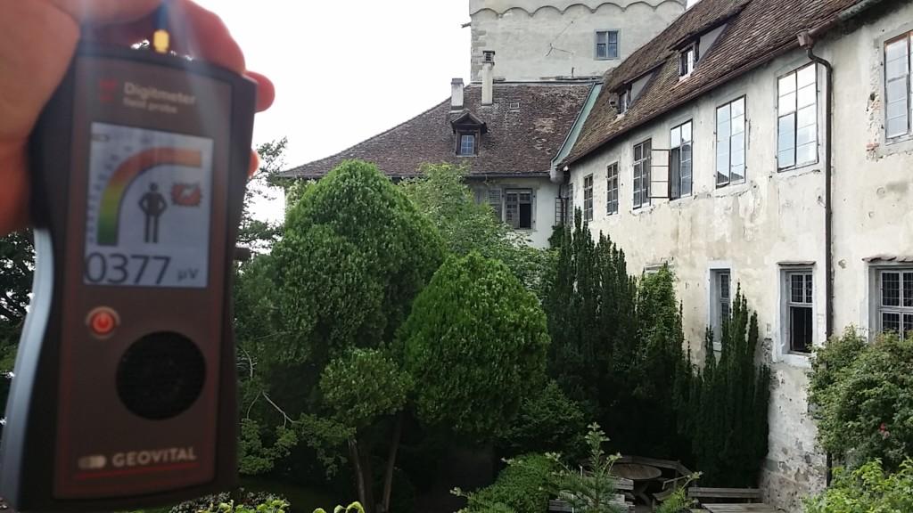 RF EMF radiation levels at Burg Meersburg