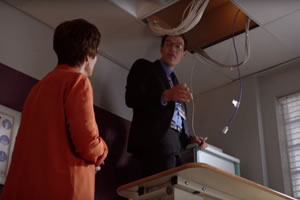 In the TV series Holby City, a small reduction in Wi-Fi exposure produces confirmation of a electromagnetic hypersensitivity (EHS) diagnosis - image courtesy of BBC