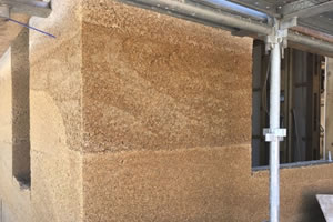 Hemp blocks used as a environmentally friendly alternative building material