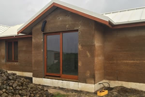 Hemp use in the construction of this home featured on Grand Designs, creates quite and peaceful environment.