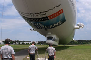 Zeppelin tours go all the time in Friedrichshaben