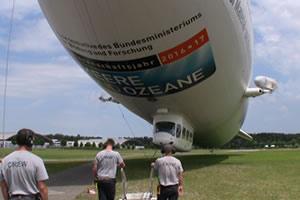 Zeppelin tours go all the time in Friedrichshaben