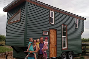 The EMF Shielded Tiny House by Brian Hoyer is a proud family addition.