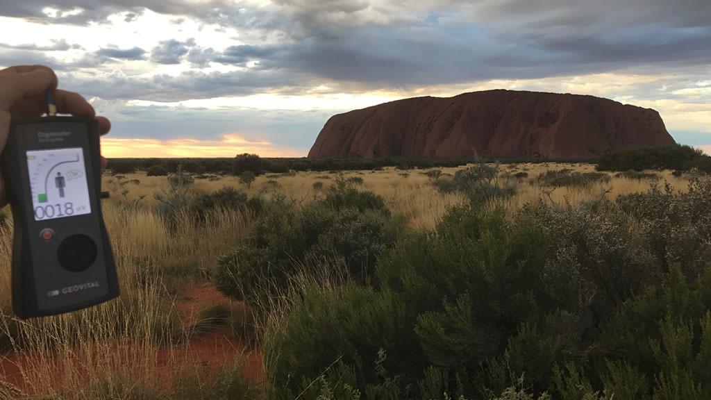 RF EMR radiation at Ayers Rock (Uluru), Northern Territory, Australia - by Patrick van der Burght