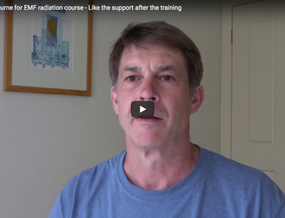 Video: From the USA to Melbourne to do EMF radiation course