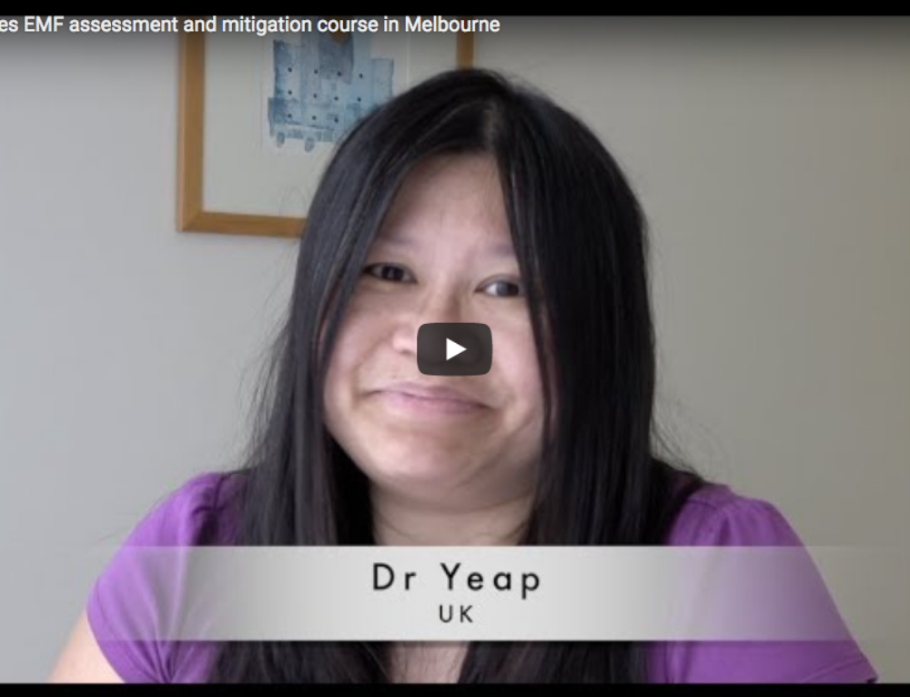 UK Doctor does EMF assessment and mitigation course in Melbourne
