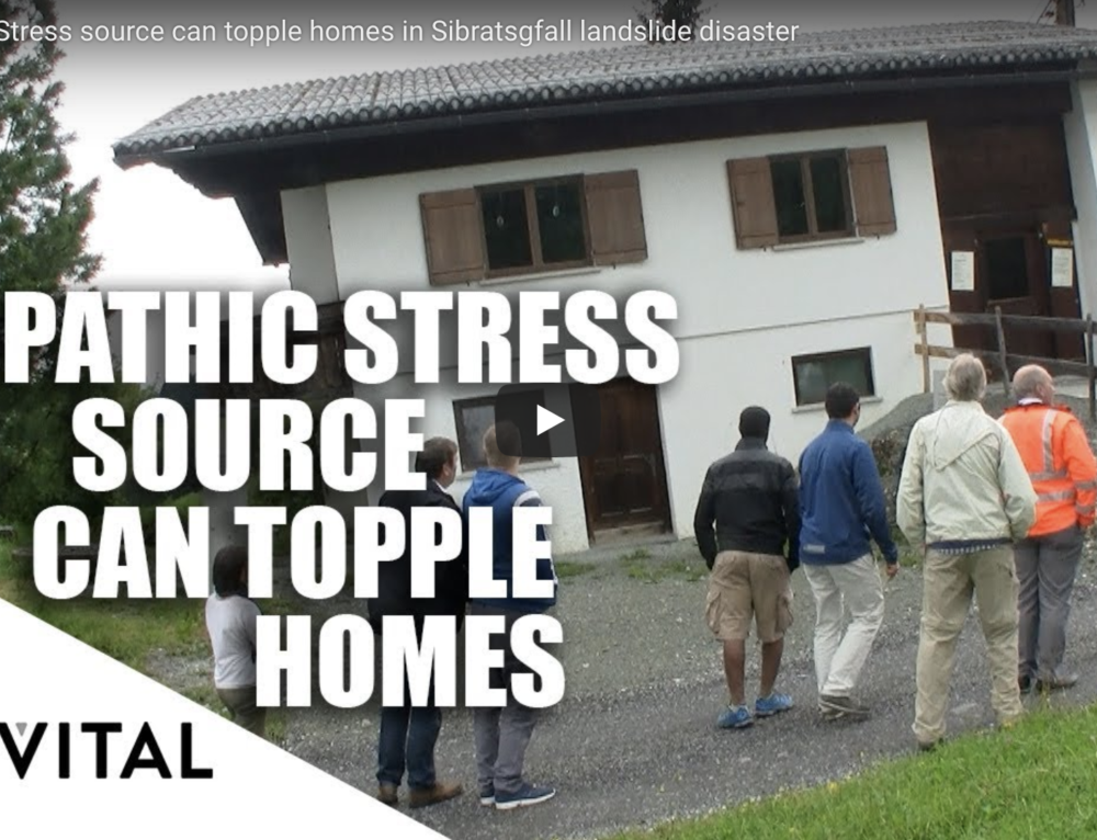 Video Geopathic Stress source can topple homes in Sibratsgfall landslide disaster