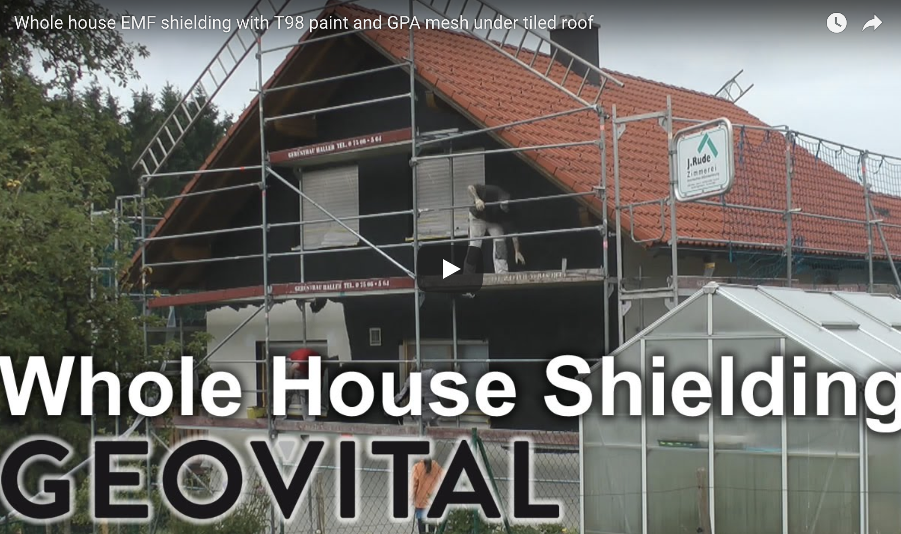 Video – Whole house shielding with T98 paint and GPA mesh under