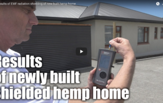 Video of results of EMF radiation shielded hemp home