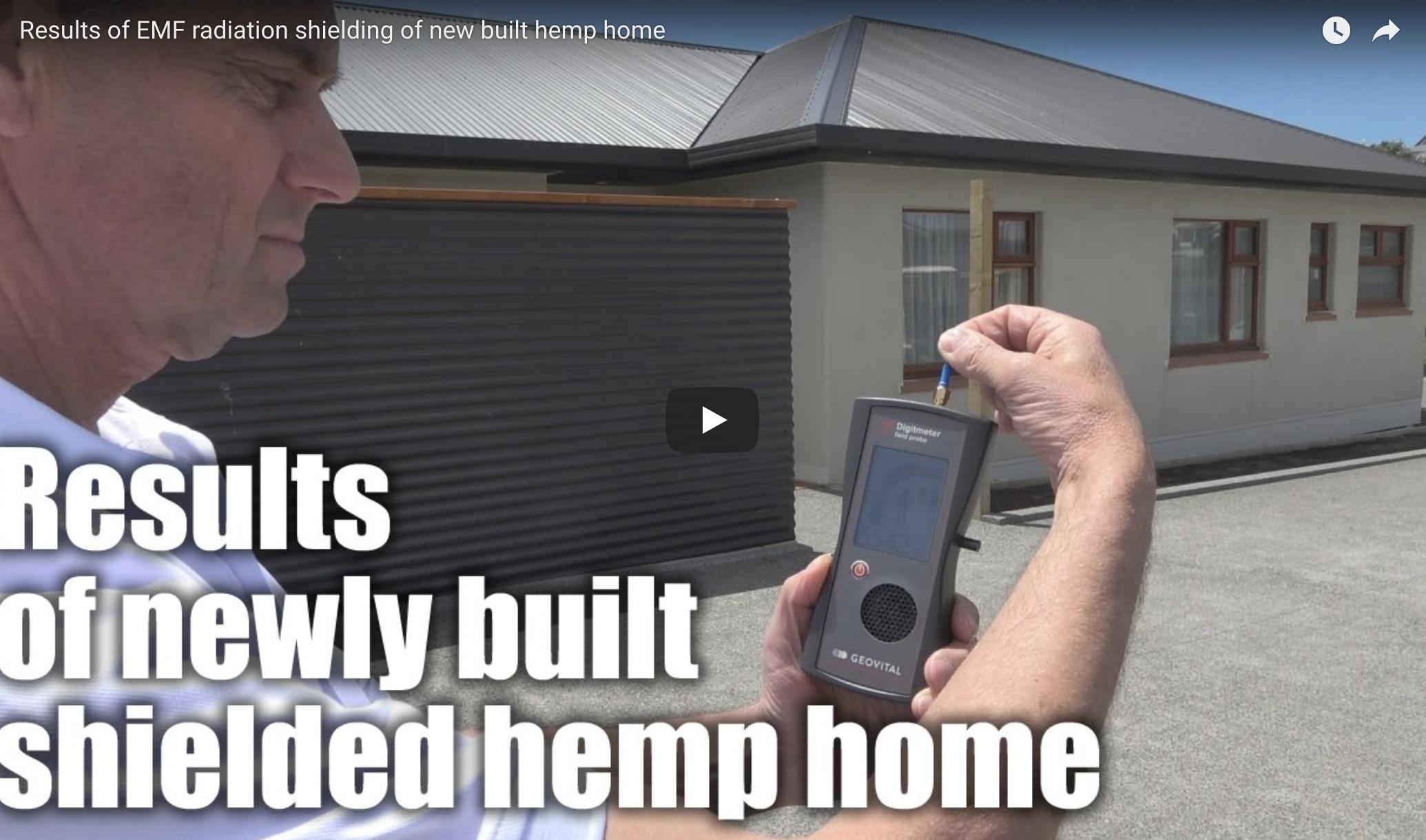 Video: Results of EMF radiation shielding of new built hemp home