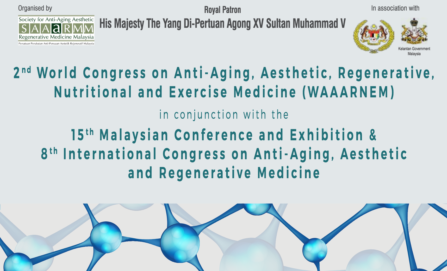 Exhibit and Speaking @ the 2nd World Congress on Anti-Aging, Aesthetic,  Regenerative, Nutritional and Exercise Medicine (WAAARNEM)