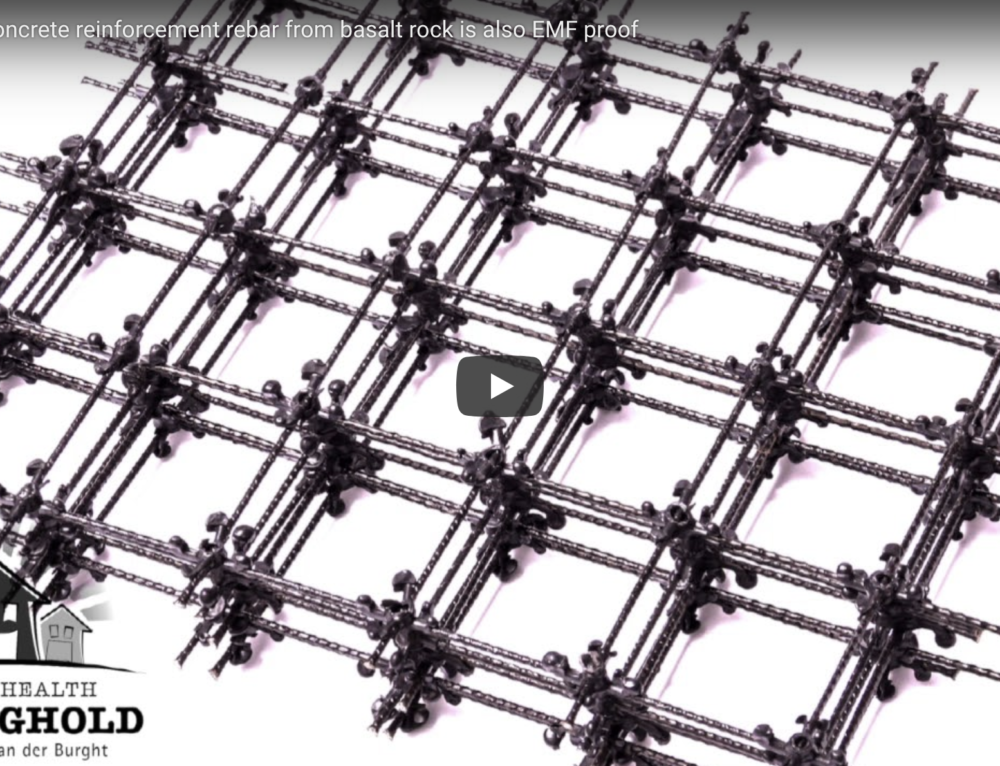 Video: Non-metal concrete reinforcement from Fibre Glass and Basalt Rock as EMF proof rebar alternative