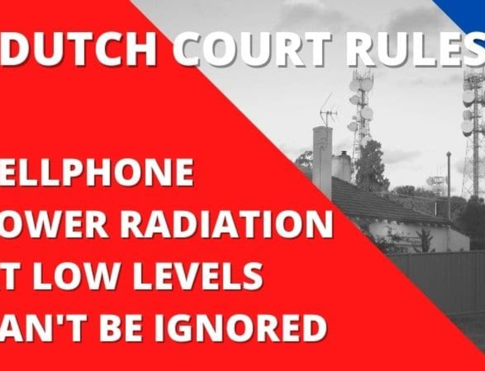 Dutch Court Ruling – Cellphone Tower's Low EMF Radiation Can't Be Excluded